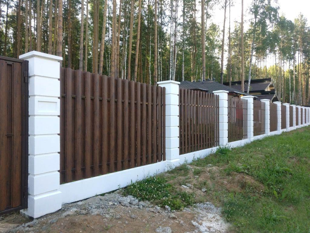 забор из прессованного бетона купить